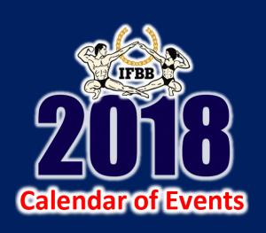 календарь соревнований по бодибилдингу на 2018 год